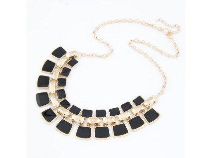 Černo zlatý náhrdelník