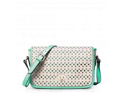 Dámská kabelka přes rameno Just Star pastelově zelená a béžová
