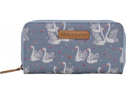 damska penezenka s labutemi brakeburn swans pastelova modra