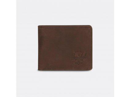 Pánská kožená peněženka Herschel (RDIF) HANK C - hnědá