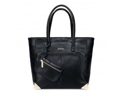 Velká kabelka na rameno Just Star černá