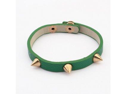 Zelený náramek s hroty
