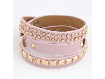 Růžový náramek - pásek