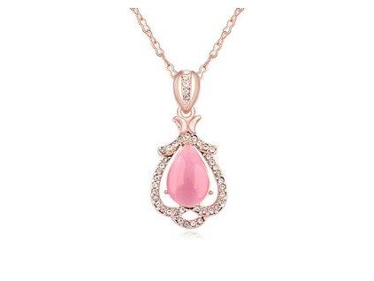 Luxusní náhrdelník s kamínky Pink