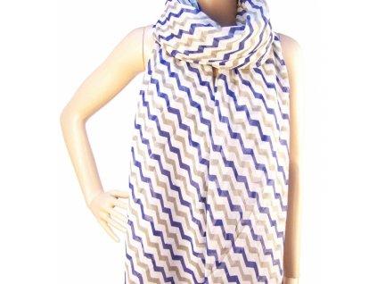 Luxusní šátek pruhovaný