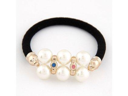 Gumička s perlami