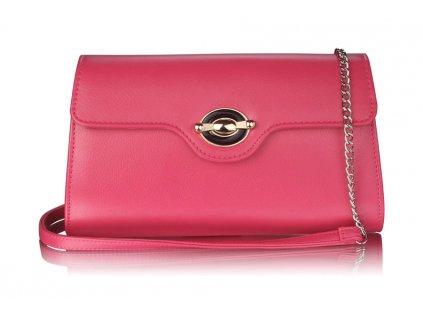 Růžová kabelka přes rameno