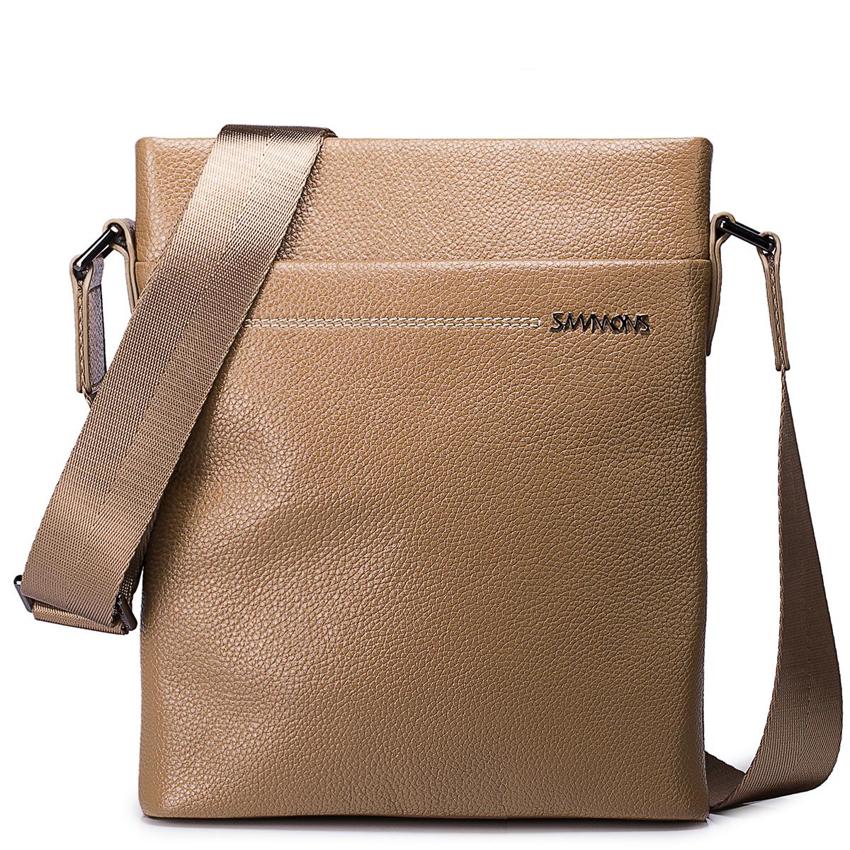 Pánská kožená taška přes rameno Sammons Small béžová