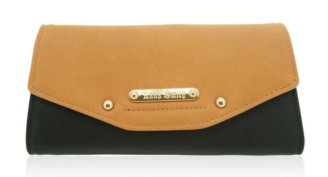 Moderní dámská peněženka Anna Smith hnědo černá