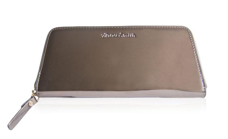 Luxusní dámská peněženka Anna Smith stříbrná