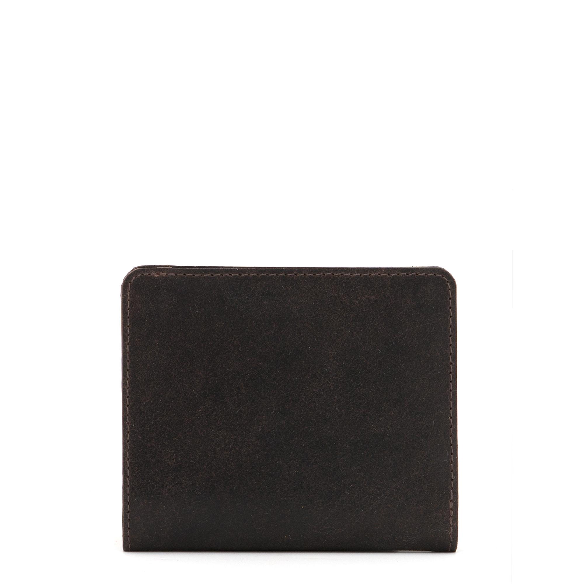 Mini dámská kožená peněženka z pravé kůže Yoshi tmavě hnědá