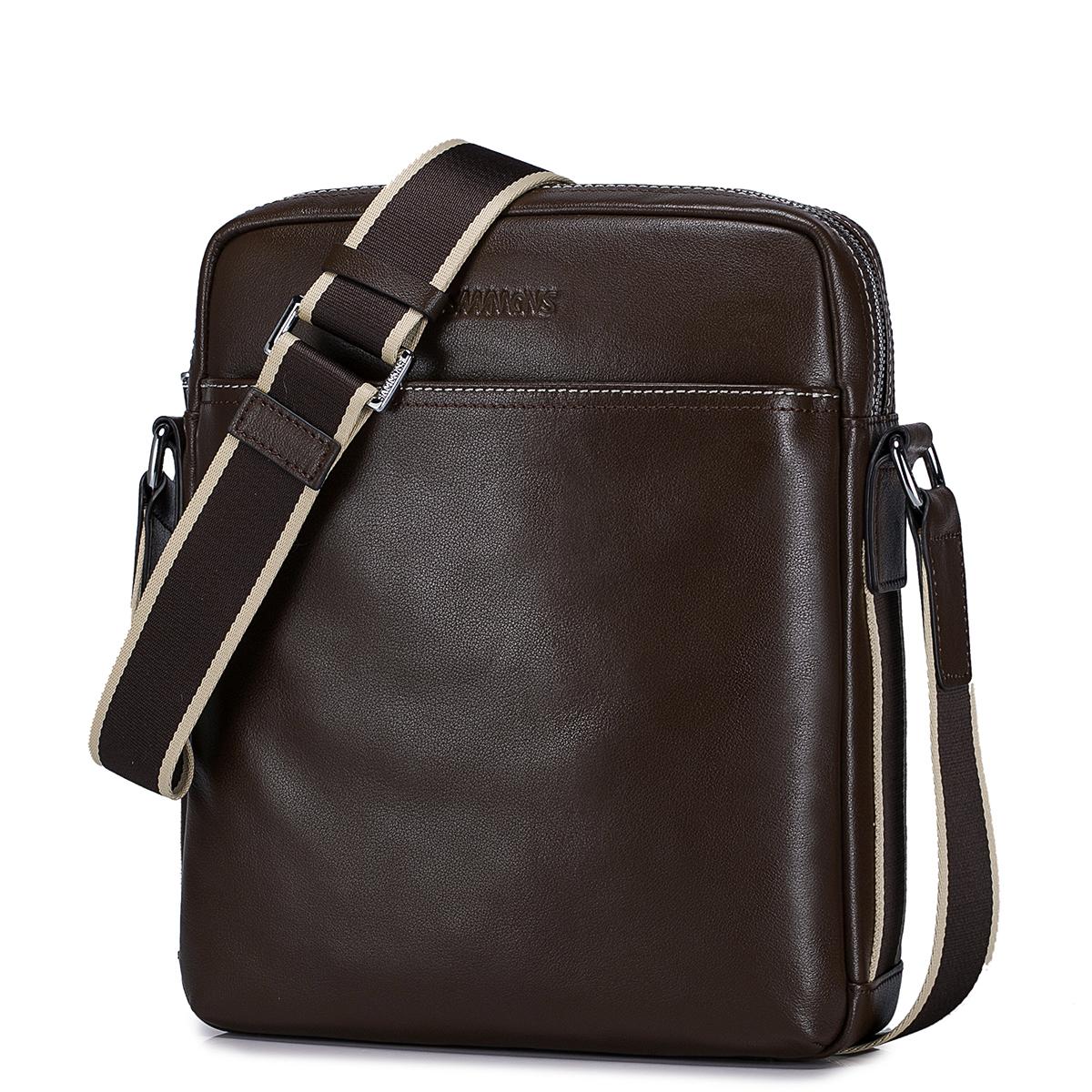 Pánská taška přes rameno Sammons hnědá s pruhem