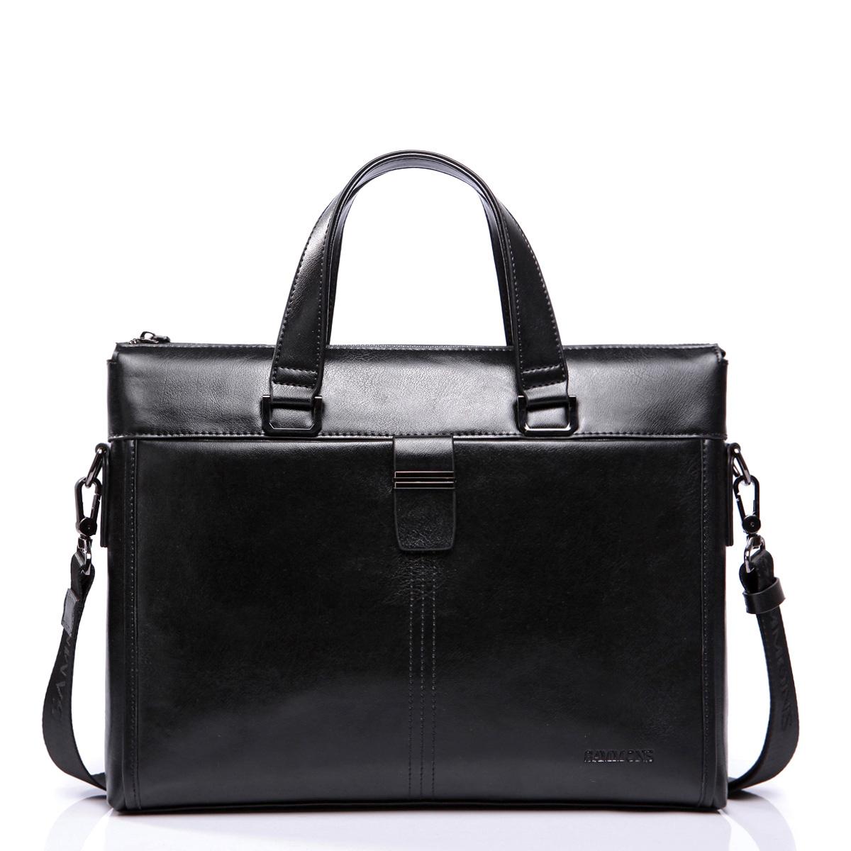 """Pánská kožená taška na notebook Sammons černá 14"""""""