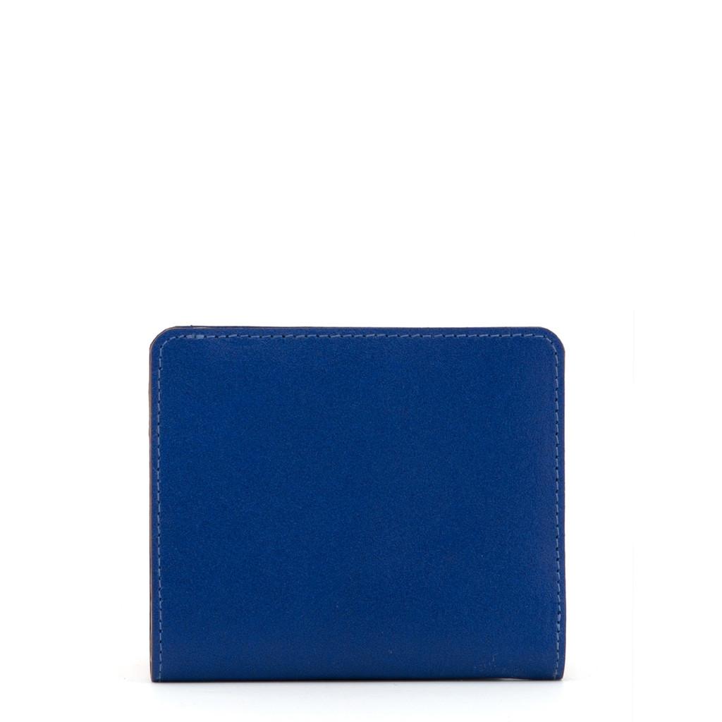 Mini dámská kožená peněženka z pravé kůže Yoshi modrá