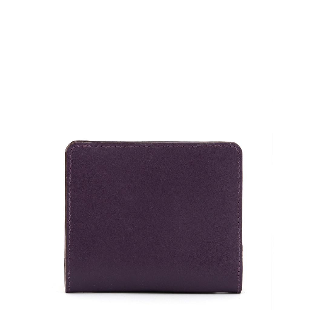 Mini dámská kožená peněženka z pravé kůže Yoshi fialová