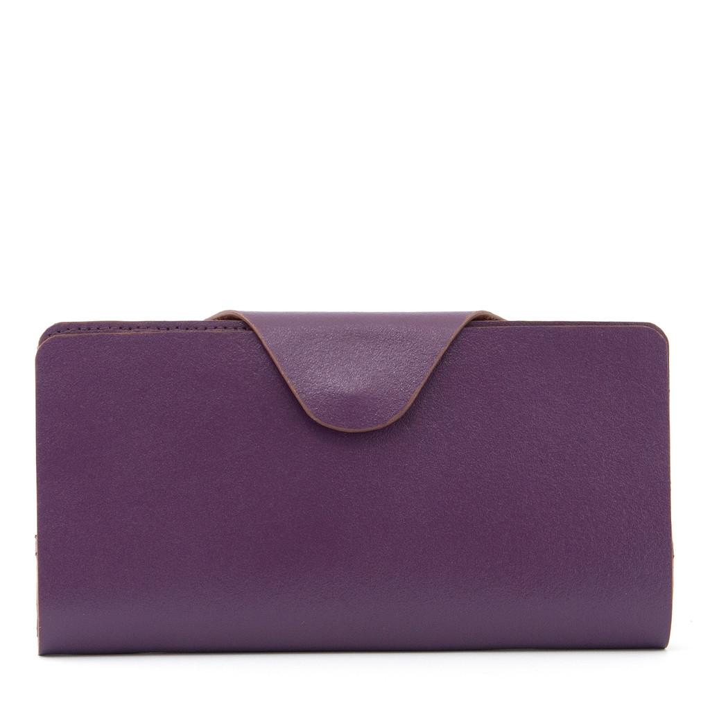 Velká dámská kožená peněženka z pravé kůže Yoshi fialová
