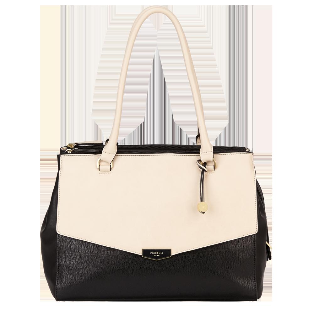 Černobílá kabelka přes rameno Fiorelli - Retro Collection