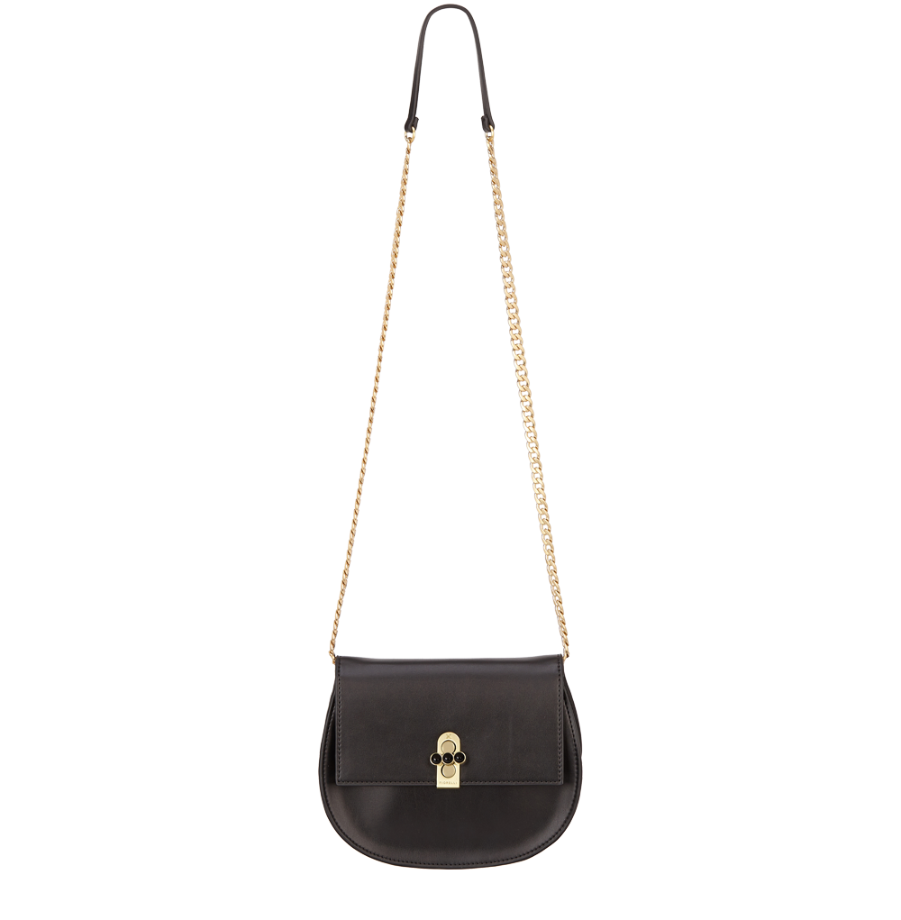 Černá kabelka crossbody FIORELLI s řetízkem přes rameno
