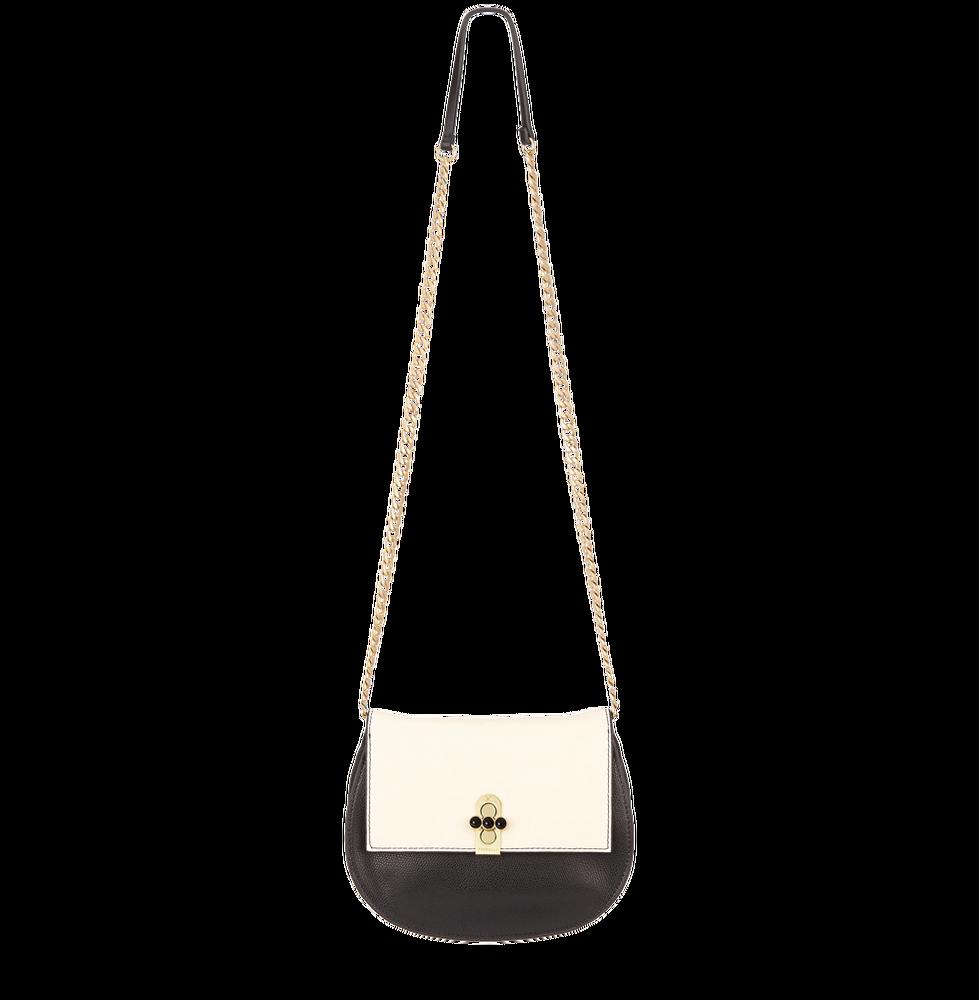 Černo bílá kabelka crossbody Fiorelli s řetízkem přes rameno
