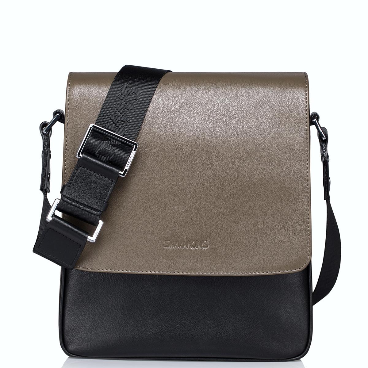 Pánská khaki kožená taška přes rameno Sammons
