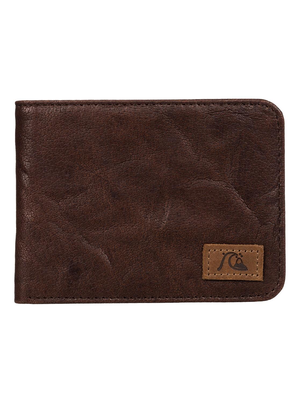 Pánská kožená peněženka Round Up Quiksilver hnědá