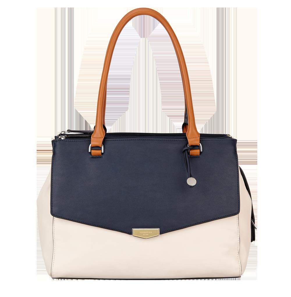 Modrobílá kabelka přes rameno Fiorelli - Retro Collection