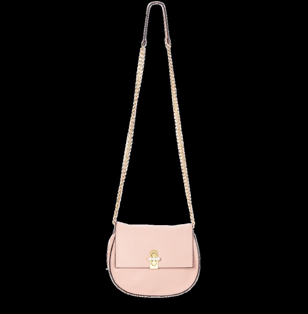 Světle růžová kabelka crossbody Fiorelli s řetízkem přes rameno