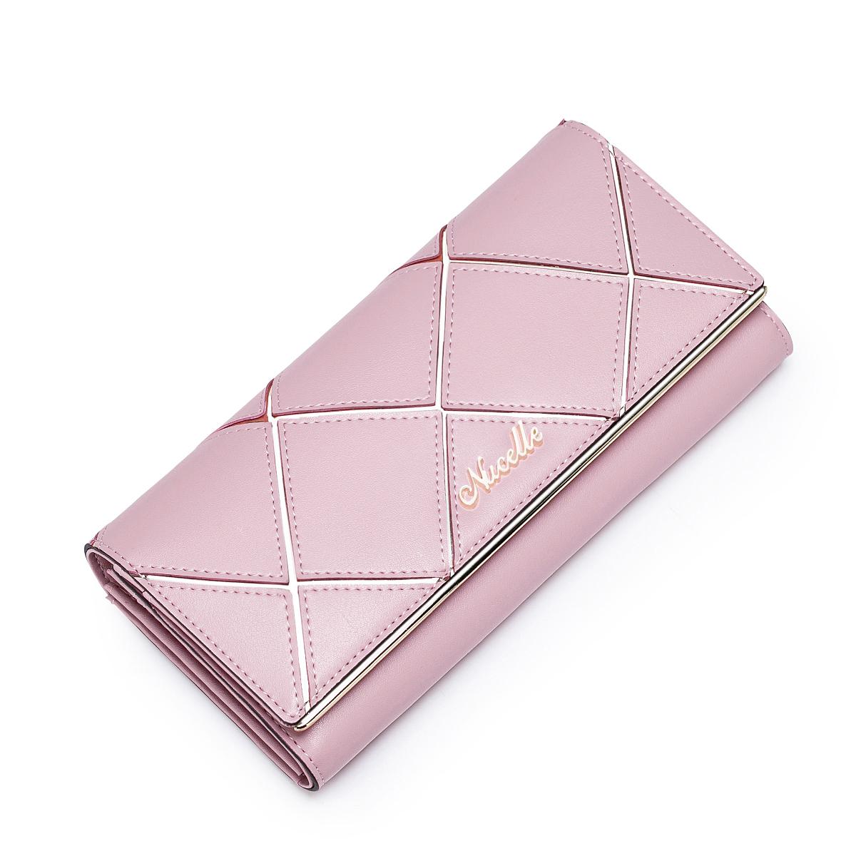 Dámská velká kožená peněženka Nucelle Elegancy růžová