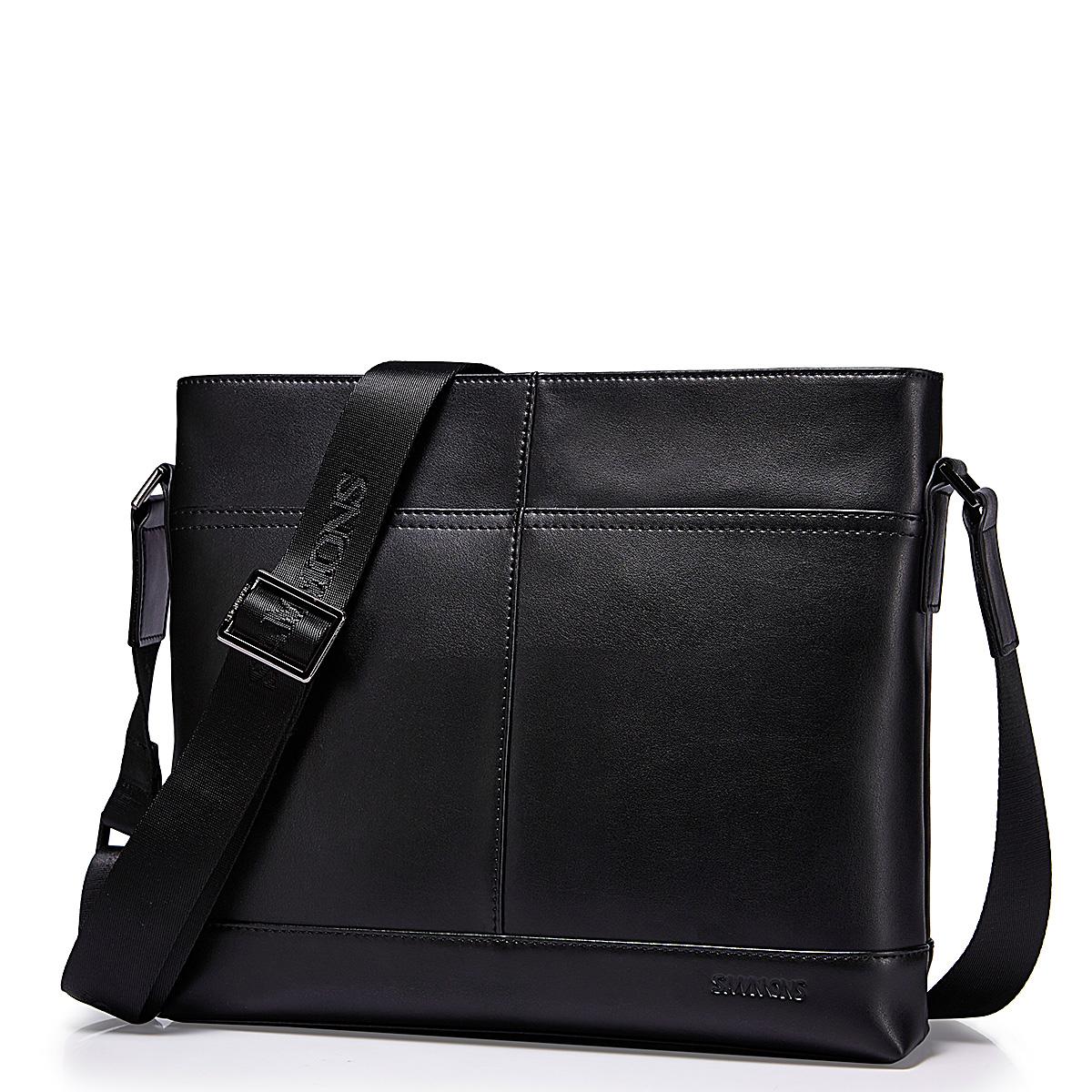Pánská kožená taška přes rameno Sammons Ipad2 černá