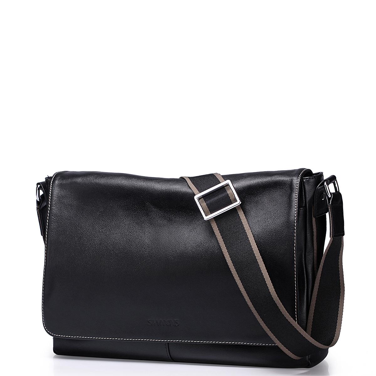 Pánská kožená taška přes rameno Sammons Shoulder černá