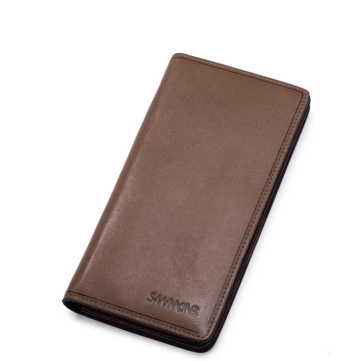 Pánská velká kožená peněženka hnědá elegance