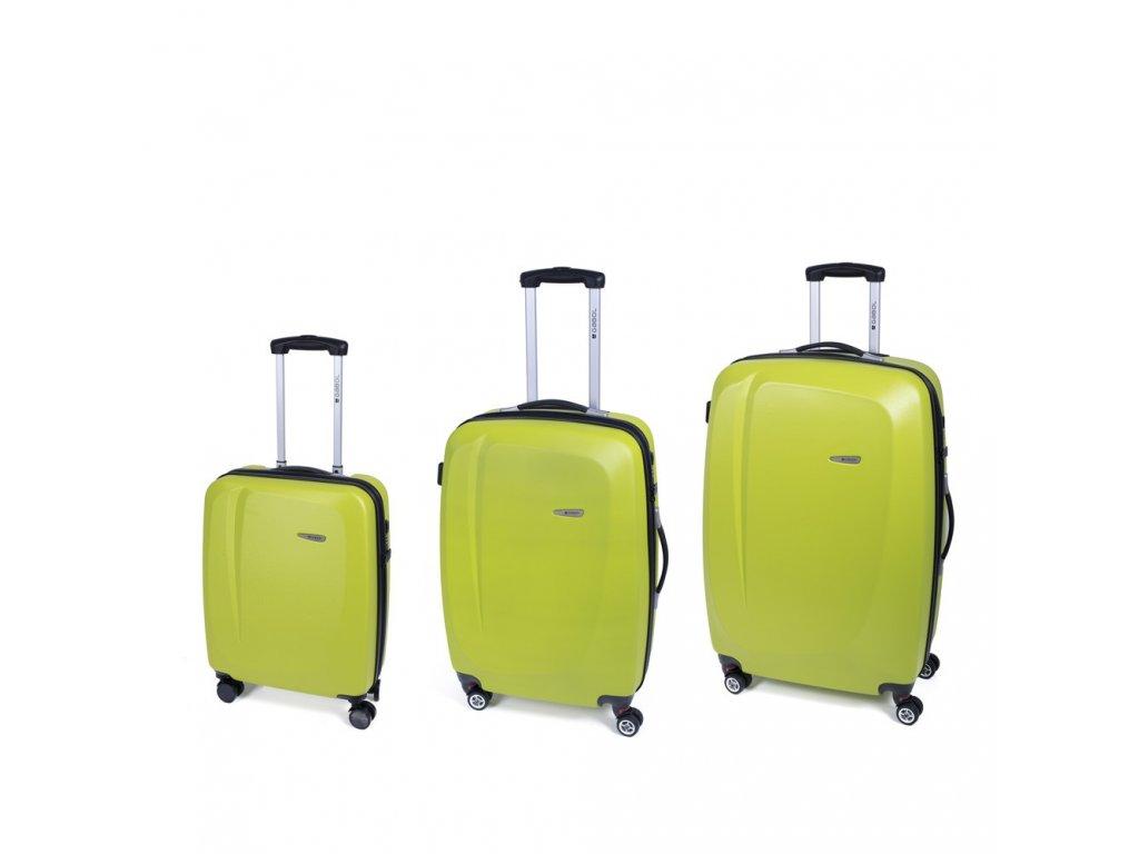 Cestovní sada kufrů Gabol Line pistacho 77+67+55 cm