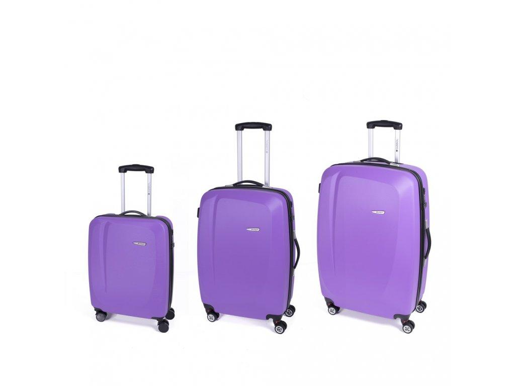 Cestovní sada kufrů Gabol Line malva 77+67+55 cm