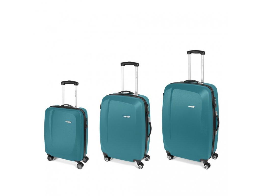 Cestovní sada kufrů Gabol Line turquesa 77+67+55 cm