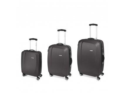 Cestovní sada kufrů Gabol Line gris 77+67+55 cm