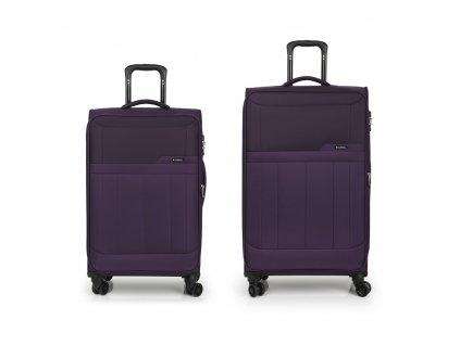 Cestovní sada kufrů Gabol Roma ciruela 79+69 cm