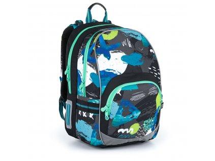 Dvoukomorový batoh s barevnými vzory Topgal KIMI 21021 B