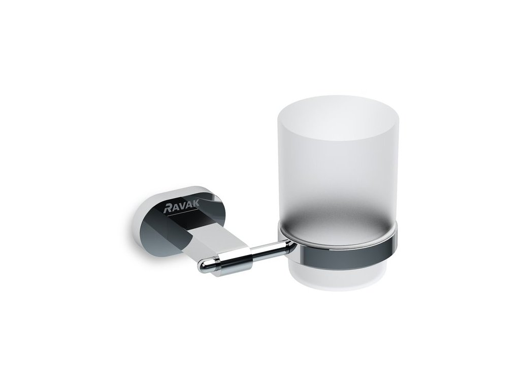 Držiak s pohárom CR 210.00 CHROME Ravak, sklo/chróm