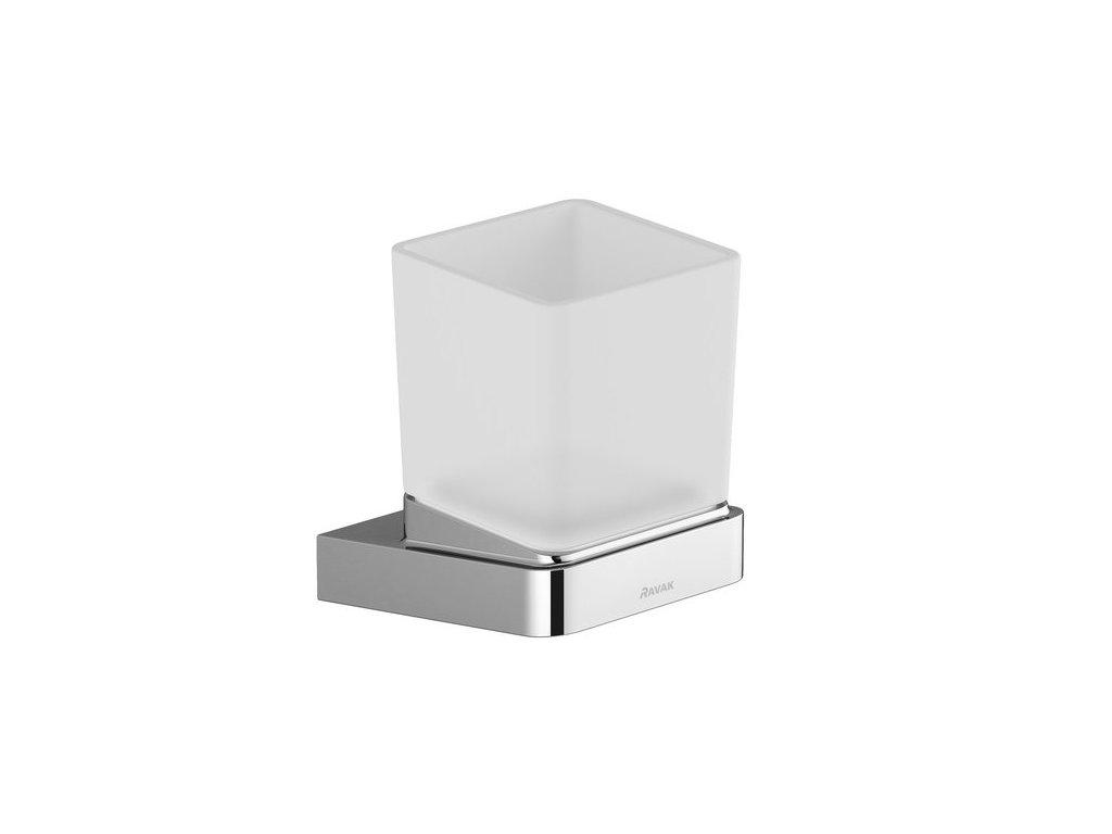 Držiak s pohárikom TD 210 10° Ravak, sklo/chróm