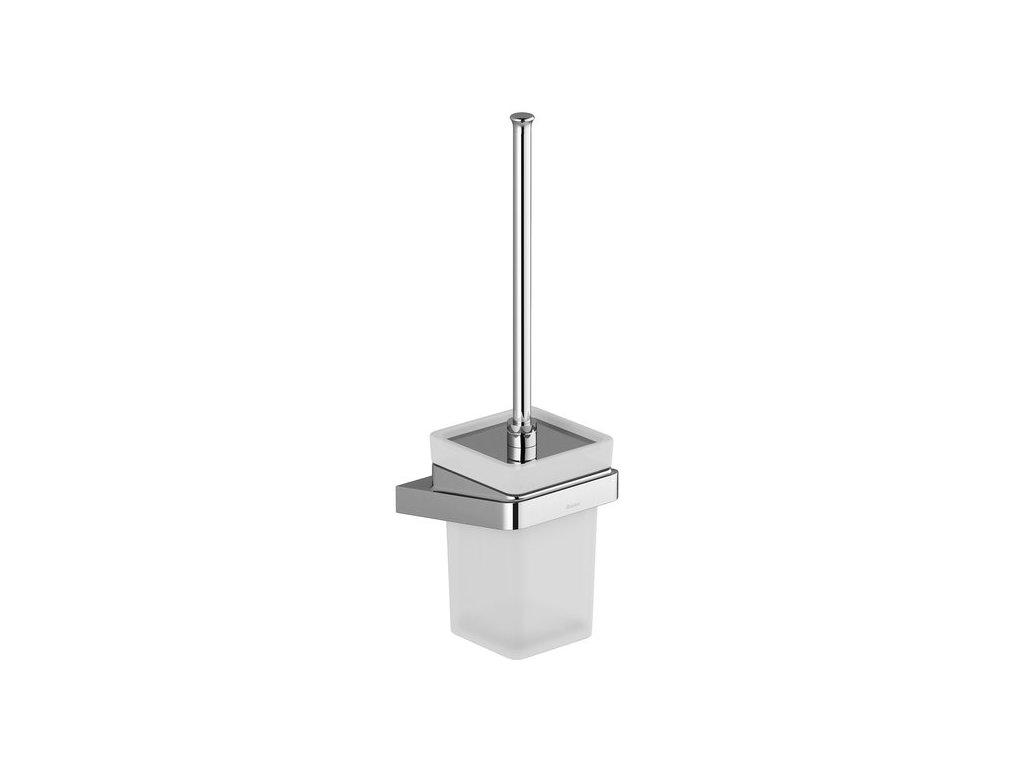 Držiak s nádobkou a WC kefkou TD 410 10° Ravak, sklo/chróm