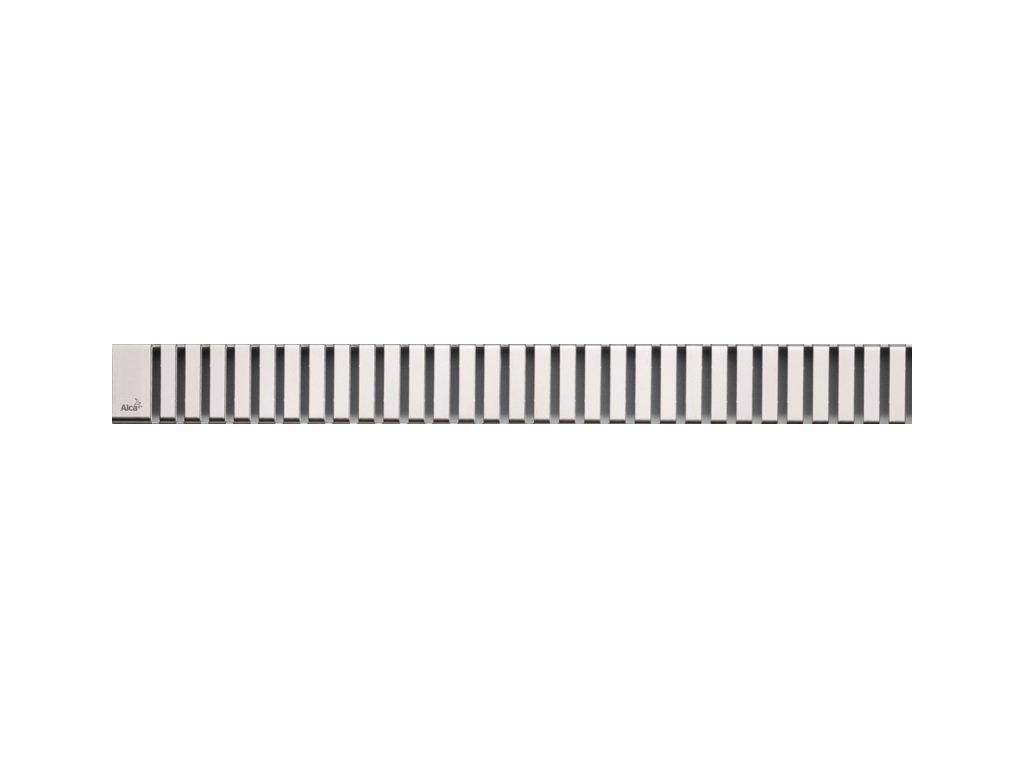 Perforovaný rošt 650 mm LINE Alcaplast pre žľab, lesk