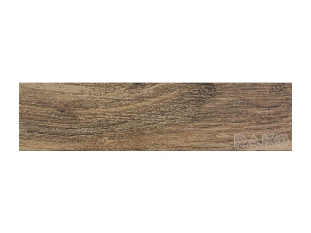 Dlaždica 15x60 cm Rako FARO, hnedá