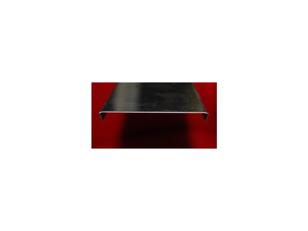 Zakončovací profil 197 cm pre 10 sklobetónu, nerez