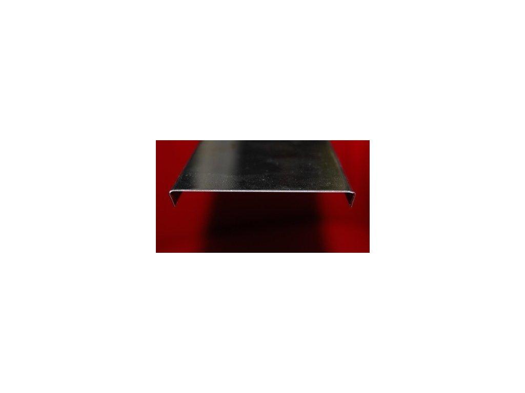 Zakončovací profil 100 cm pre 5 sklobetónu, nerez