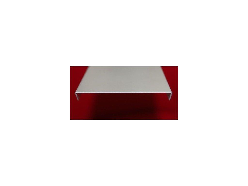 Zakončovací profil 100 cm pre 5 sklobetónu, hliník