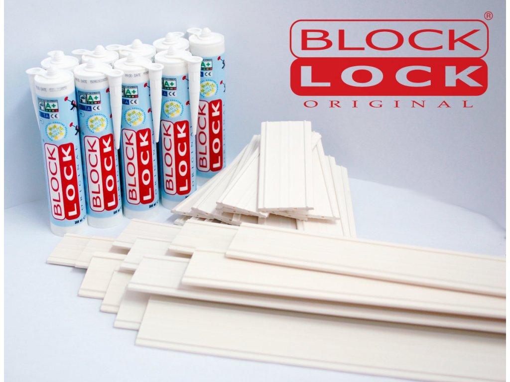 Montážna sada BlockLock pre 50 sklobetónu Basic