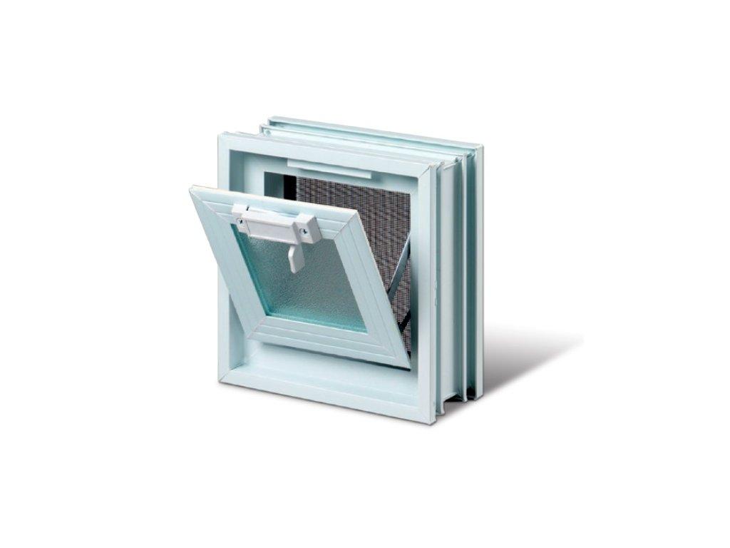 Vetracie okno 19x19 cm, plastové, biela