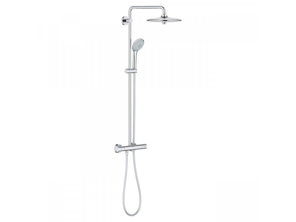 Sprchový systém EUPHORIA SYSTEM 260 Grohe, s termostatom na stenu, chróm