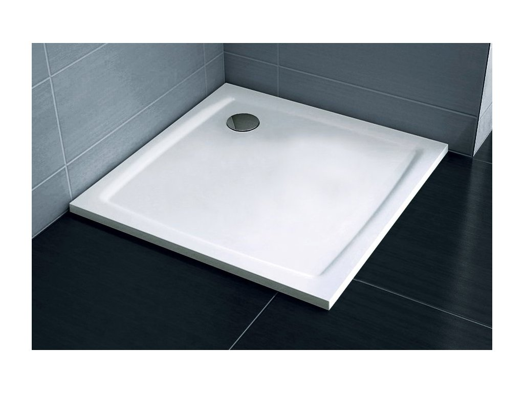 Sprchová vanička štvorcová 90x90 cm PERSEUS PRO-90 Flat Ravak, biela
