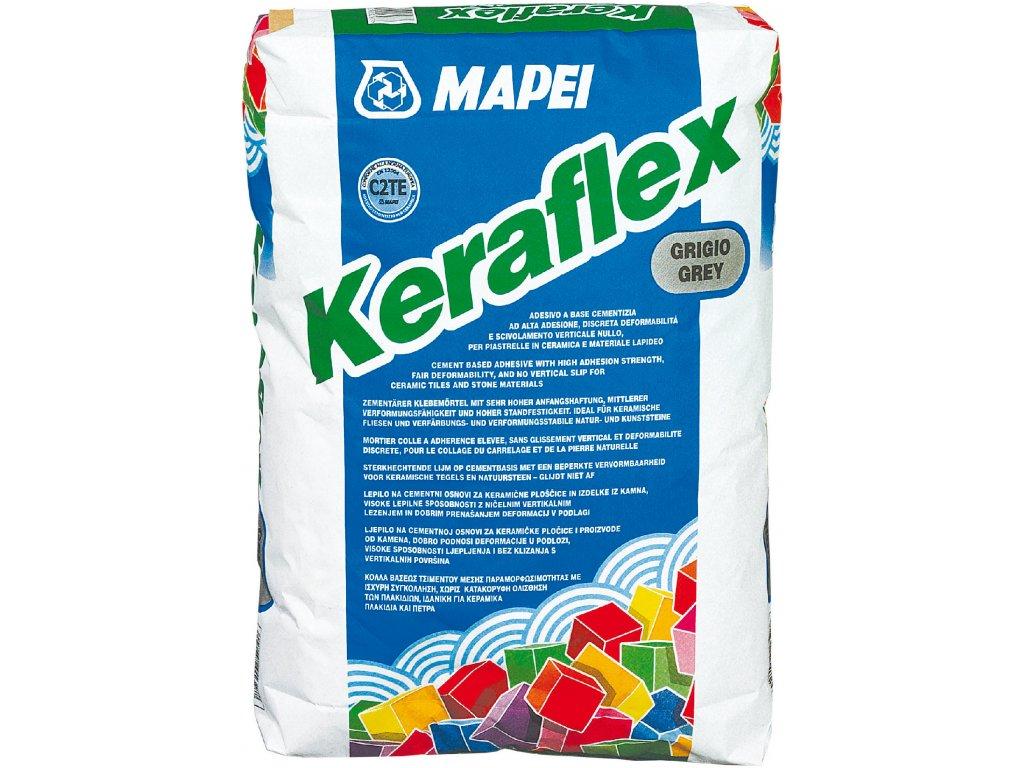 Flexibilné cementové lepidlo KERAFLEX Mapei, šedá, 25 kg